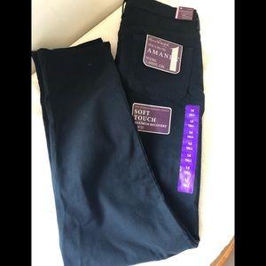 NWT Gloria Vanderbilt Black Jeans sz 14 Tall